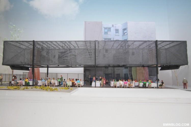 BMW Guggenheim Lab, Architects' model, New York City site, Communal dinner setting, Photo: courtesy Atelier Bow-Wow (05/2011)
